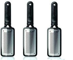 Pedicure-Microplane-Foot-Colossal-Rasp-Black-Pack-of-3-Brand-New