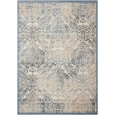 Nourison Graphic Illusions GIL09 Machine-Made Sky Rug, Blue