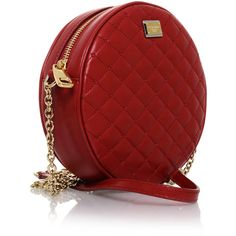 DOLCE & GABBANA QUILTED Red Leather Crossbody Bag ($495) ❤ liked on Polyvore featuring bags, handbags, shoulder bags, purses, accessories, bolsas, leather shoulder handbags, handbags shoulder bags, leather hand bags and shoulder handbags