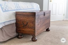 Antique Brown Chest | General Finishes Design Center Water Based Wood Stain, General Finishes, Hope Chest, Storage Chest, Furniture Design, Stains, It Is Finished, Antiques