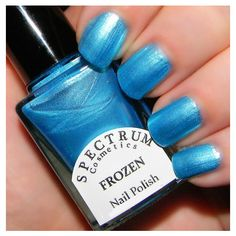 Frozen Pearlescent Blue Nail Polish Winter Blues Collection ($4) ❤ liked on Polyvore featuring beauty products, nail care, nail polish, bath & beauty, grey, makeup & cosmetics, nail polishes, nails, blue gray nail polish et blue nail polish