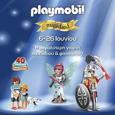 Από τις 6 έως τις 26 Ιουνίου, η μεγαλύτερη γιορτή παιχνιδιού και φαντασίας παρέα με την PLAYMOBIL σας περιμένει στο Mediterranean Cosmos! #Playmobil_mediterraneancosmos