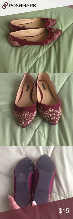 Size 6 Forever 21 Flats Like new- worn once Forever 21 Shoes Flats & Loafers