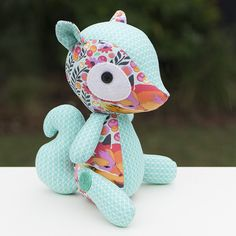 Sammie the squirrel in Tula Pink Chipper and C+S; Melly and me - patterns, books and fabrics