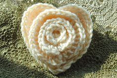 Flower in a Heart: free #crochet pattern