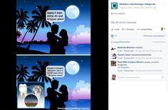 Postagem com troca de capital social com outra página do universo odontológico no Facebook.
