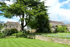 View of the Tythe House, Weigh House and Wheelrights from the bottom lawn of the Tythe House - photo taken in May