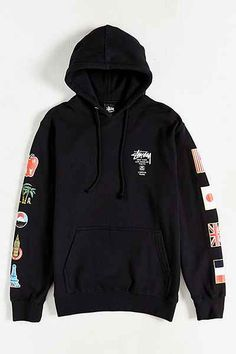 Stussy World Tour Flags Pullover Hoodie Sweatshirt. Supreme ... 75307174f665