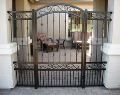 Decorative Wrought Iron Gates Phoenix | Sun King Fencing