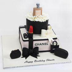 Beautiful Birthday Cakes, Birthday Cakes For Women, Birthday Cake Girls, Bolo Chanel, Chanel Birthday Cake, Channel Cake, Cake Designs For Boy, Gateaux Cake, Painted Cakes