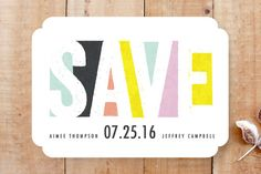 Bold Kaleidoscope Save the Date Cards by Karidy Walker at minted.com