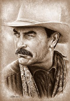Tom Selleck Photograph - Tom Selleck The Western Collection by Andrew Read