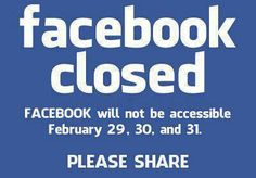 Facebook closed