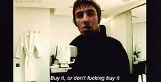 Liam Gallagher on Pretty Green.