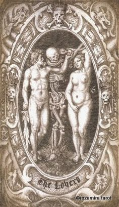 VI. The Lovers - Deck of the Dead Tarot by Seven Stars