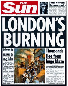 the fire raged through most of London leaving many homeless