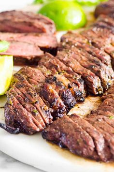Carne Asada {Easy & Flavorful} - iFOODreal Healthy Grilling Recipes, Healthy Family Meals, Healthy Breakfast Recipes, Meat Recipes, Mexican Food Recipes, Recipies, Best Carne Asada Recipe, Corn Avocado Salad, How To Cook Steak