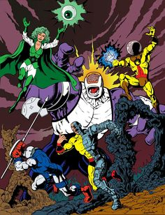 It's Fatal Five Friday here on Legion World as we welcome the Legion's fearsome foes into their very own gallery!(art by Denny Fincke) Legion Of Superheroes, Arch Enemy, Dc Comics Art, Dc Characters, Comics Universe, Comic Page, Fantasy, Marvel Art, Comic Covers