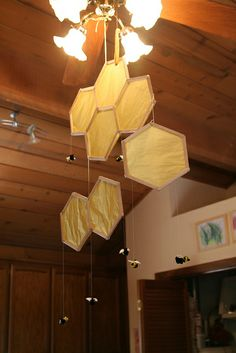 Beehive and Honey Bee Mobile (tutorial available in Little Acorn Learning May Enrichment guide)