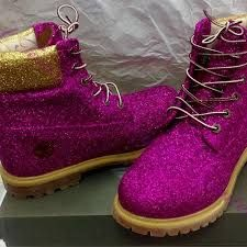 sparkly timberlands