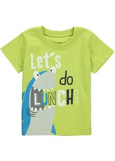 Boys Shark Print T-Shirt (3mths-5yrs)