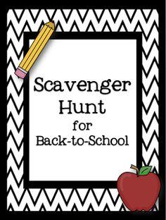 Smiling in Second Grade: Classroom Scavenger Hunt FREEBIE!