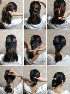 How to make easy hair style fast step by step DIY tutorial instructions