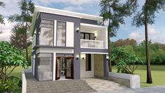Free Plan Interior Design Home Plan Full Plan need minimum plot of 9 meter by 15 meter.House Car Parking and 3d Interior Design, Samar, Home Design Plans, Little Houses, Minimalist Home, My House, House Plans, House Design, How To Plan