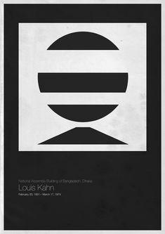 http://www.laboiteverte.fr/6-architectes-modernes-en-affiches-minimalistes/
