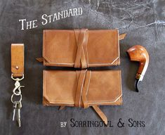 This is The Original Standard Pipe & Tobacco pouch, by Sorringowl & Sons. It is handmade, one at a time, proudly, in the U.S.A. My Story: This pipe pouch is my own, original design. When I started smoking a pipe, all I could find was factory made pouches, made of cheap materials,