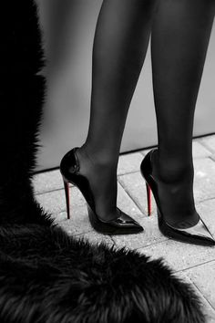 Christian Louboutin Black Patent Classic Heels, these are some baaaad shoes. High Heel Boots, High Heel Pumps, Pumps Heels, Heeled Boots, Stiletto Heels, Shoe Boots, Shoes Sandals, Pantyhose Heels, Stockings Heels