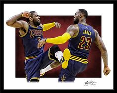 Lebron James and Kyrie Irving Print Fine Art by sportsprints5 Basketball  Room a1b5c582d