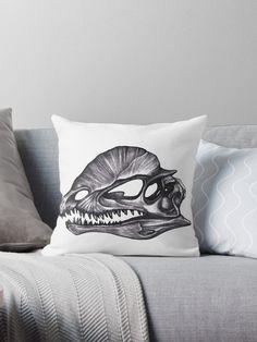 Buy 'Dilophosaurus MonochromeDinosaur skulls' by MonoMano as a T-Shirt, Classic T-Shirt, Tri-blend T-Shirt, Lightweight Hoodie, Women's Fitted Scoop T-Shirt, Women's Fitted V-Neck T-Shirt, Women's Relaxed Fit T-Shirt, Graphic T-Shirt, Wome...