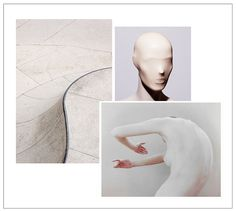 Mood board: abstract forms of the body