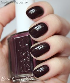 <3 fall nail color <3 | Essie Carry On. On the hunt to find this color!!