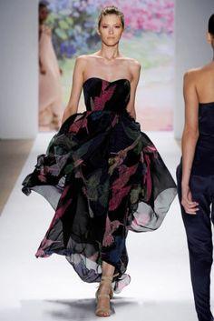 Tibi Maxi Dress USA 6 UK 10 RRP £465 Hummingbird Bird Print Boned Corset Runway   eBay