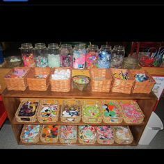 Collage area - like putting a sweet shop in the class, only this one is better and more fun!