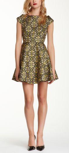 Beautiful, Print Cap Sleeve Printed Dress | HauteLook