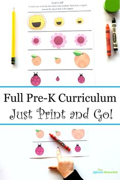 Preschool Curriculum Everything they need to know before Kindergarten! is part of Kids Crafts Preschool Pre K This preschool curriculum covers everything your kids need to know before kindergarten P - Before Kindergarten, Preschool Kindergarten, Preschool Learning, Toddler Learning, Kindergarten Readiness, Kindergarten Worksheets, Reading Worksheets, Preschool Lesson Plans, Preschool At Home