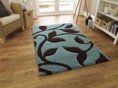 Brayden Studio Shaggy-Teppich Louder in Blau Decor, Brown Rug, Carpet Design, Teal Living Rooms, Brown Carpet, Shaggy Rug, Modern Rugs Blue, Bedroom Carpet, Modern Rugs