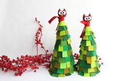 Christmas felt tree. Two Christmas Trees. Felt christmas by Intres, $69.00