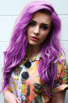 purple hair #bright #vibrant #hair