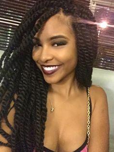 Love her twisted braids. http://www.shorthaircutsforblackwomen.com/best-hair-weave-to-buy/ http://goodhaircoaching.com/