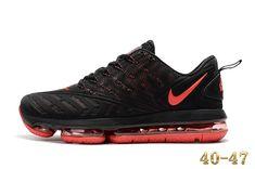 pretty nice 859ca 206b8 Nike 2019 KPU AIR MAX Sports Shoes Men Black Red 40-47