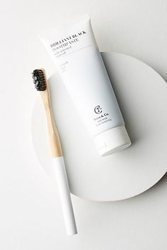 Terra & Co. Brilliant Black Set by in White Size: All, Bath Body at Anthropologie Best Toothpaste, Charcoal Toothpaste, Le Tube, Dental Floss, Teeth Care, Healthy Teeth, Makeup Shop, Natural Solutions, Tea Tree Oil