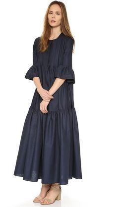 Cynthia Rowley Макси-платье с защипами