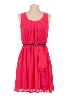 I love Maurices!!!!Belted Ruffle Front Chiffon Tank Dress available at #Maurices