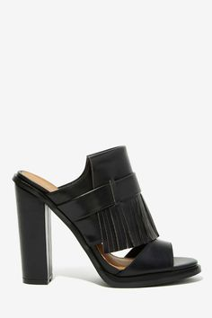 Nasty Gal Can't Get Enough Fringe Mules