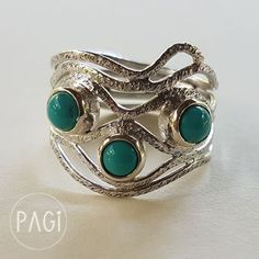 Love the three small turquoise stones and with irregular shape of the wire. Always try and do the best to you (my fabulous customers) . Thank you so much for all your support.  shop here at www.pagi.lol  #PAGi #pagi #jewelrydesigner #silver #silverjewelry #turquoise #small #gemstones #green #ring #kuta #ubud #seminyak #jimbaran #canggu #fashion #fashionblogger #blog #blogger #travel #photography #bali #indonesia #gypsy #bohemian #custom #morning #shopping #shopinbali #denpasar