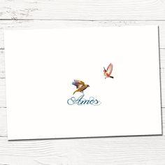 Geboortekaartje | origineel | vogels | klassiek | babykaartje | Hier ben ik!